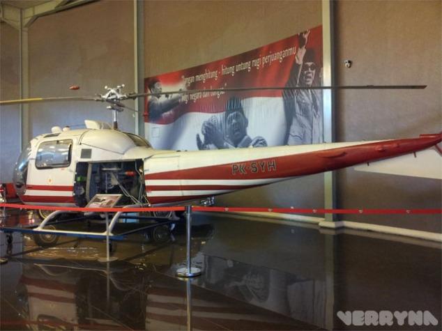 Ada helikopter yang kalau tidak salah kepunyaan Bapak Proklamator RI, Ir. Soekarno..